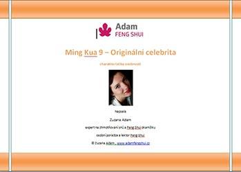 Ebook – Ming Kua 9 – Originální Celebrita