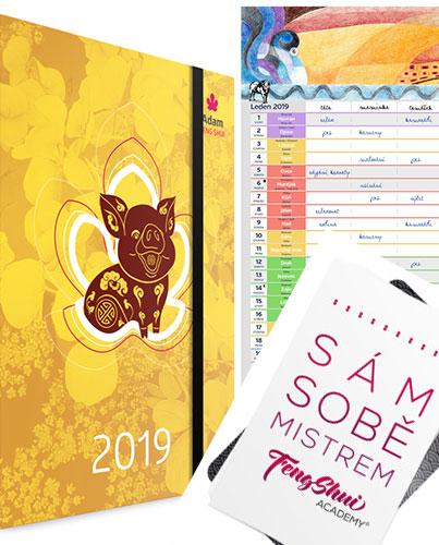 Diář 2019 + Kalendář + Karty