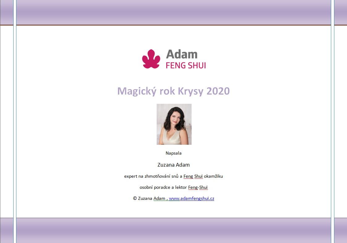 Ebook – Magický Rok Krysy 2020