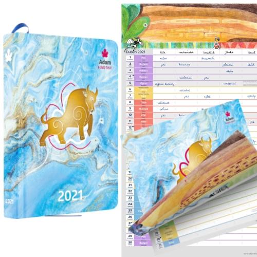 Diář 2021 + Nástěnný Kalendář 2021