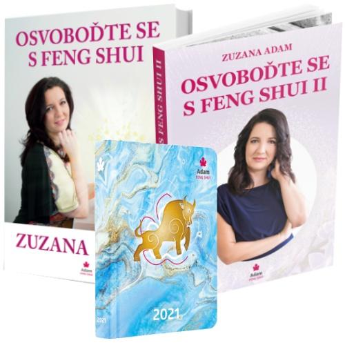 Kniha Osvoboďte Se S Feng Shui I. A II. + Diář 2021